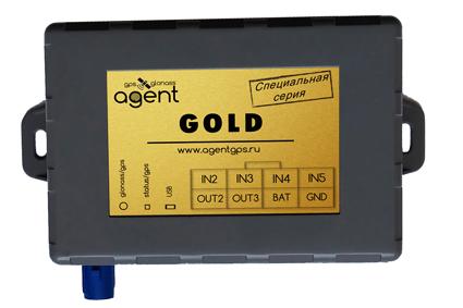 Терминал (ГЛОНАСС/GPS трекер) AGENT GOLD цена 4900 руб